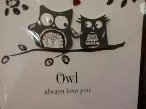M&S card 'Owl always love you'