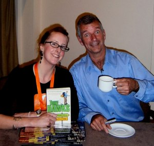 Suzanne Worthington and Tony Hawks at Stratford Literary Festival